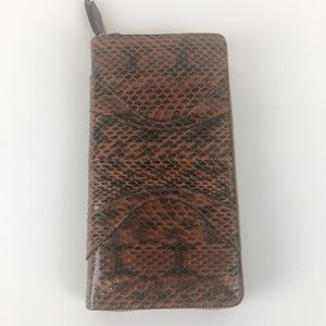 Gucci Python Micro Guccissima Zip Around Wallet